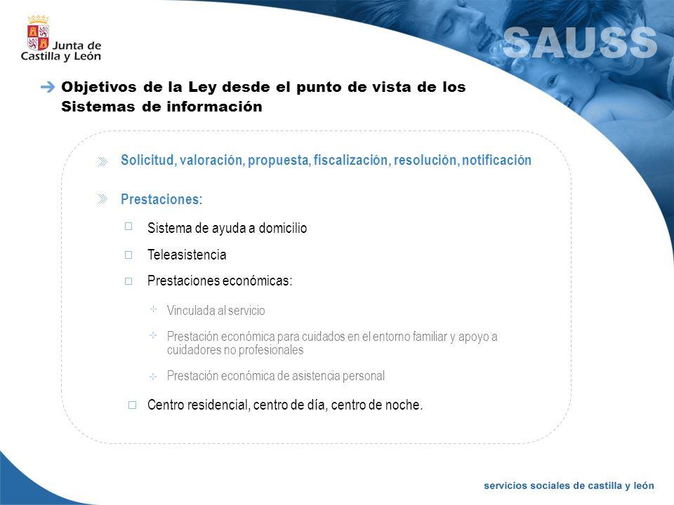 Objetivos de la Ley desde el punto de vista de los Sistemas de información Solicitud, valoración, propuesta, fiscalización, resolución, notificación P