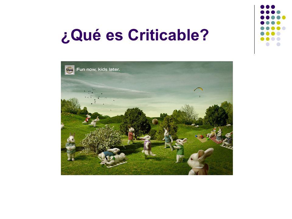 ¿Qué es Criticable