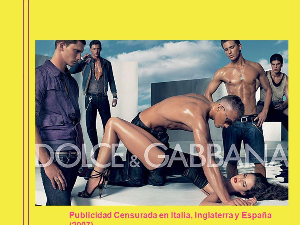 Publicidad Censurada en Italia, Inglaterra y España (2007)