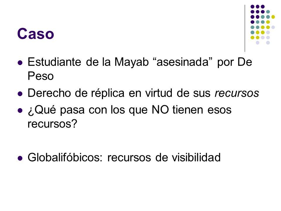 Caso Estudiante de la Mayab asesinada por De Peso Derecho de réplica en virtud de sus recursos ¿Qué pasa con los que NO tienen esos recursos? Globalif