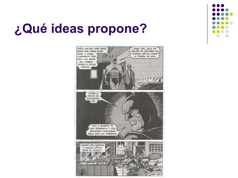 ¿Qué ideas propone?