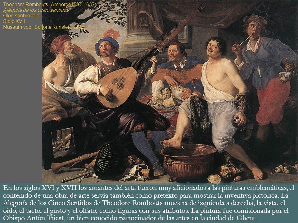 En los siglos XVI y XVII los amantes del arte fueron muy aficionados a las pinturas emblemáticas, el contenido de una obra de arte servía también como