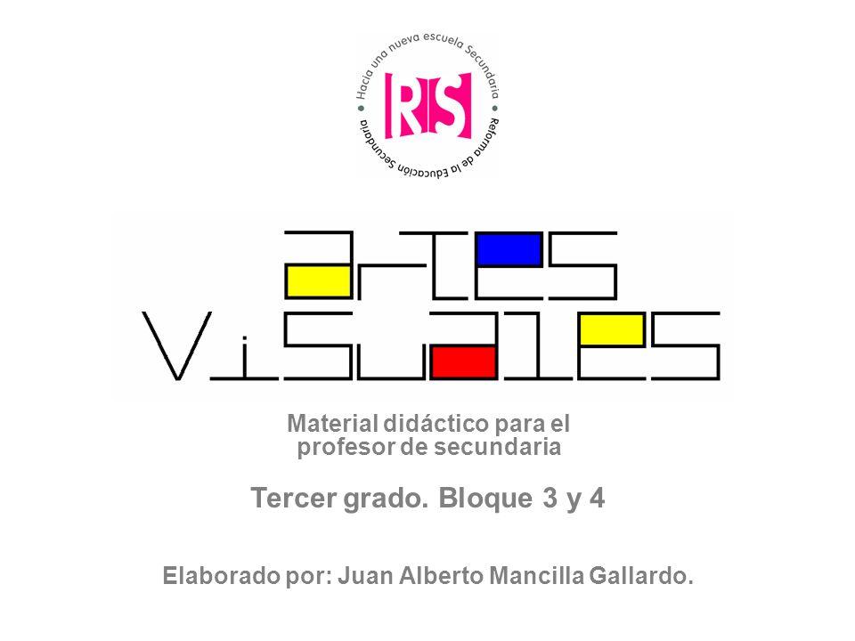 Material didáctico para el profesor de secundaria Tercer grado. Bloque 3 y 4 Elaborado por: Juan Alberto Mancilla Gallardo.