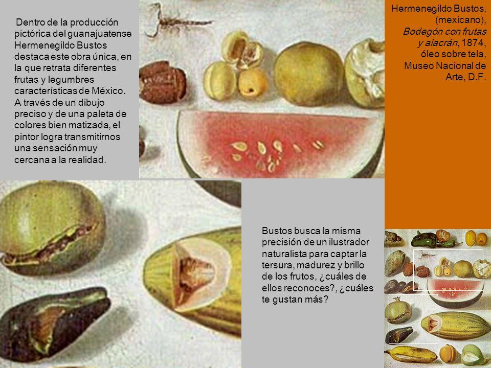 Dentro de la producción pictórica del guanajuatense Hermenegildo Bustos destaca este obra única, en la que retrata diferentes frutas y legumbres carac