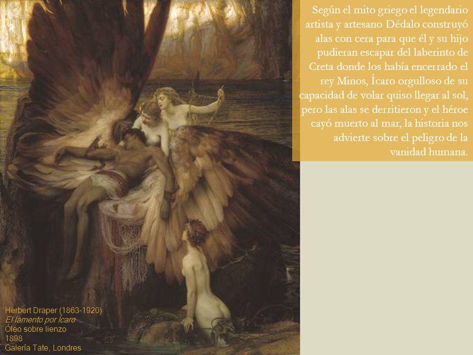 Según el mito griego el legendario artista y artesano Dédalo construyó alas con cera para que él y su hijo pudieran escapar del laberinto de Creta don
