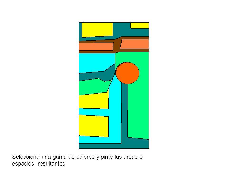 Seleccione una gama de colores y pinte las áreas o espacios resultantes.