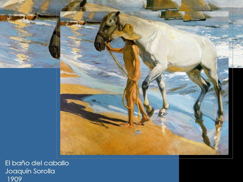 El baño del caballo Joaquín Sorolla 1909