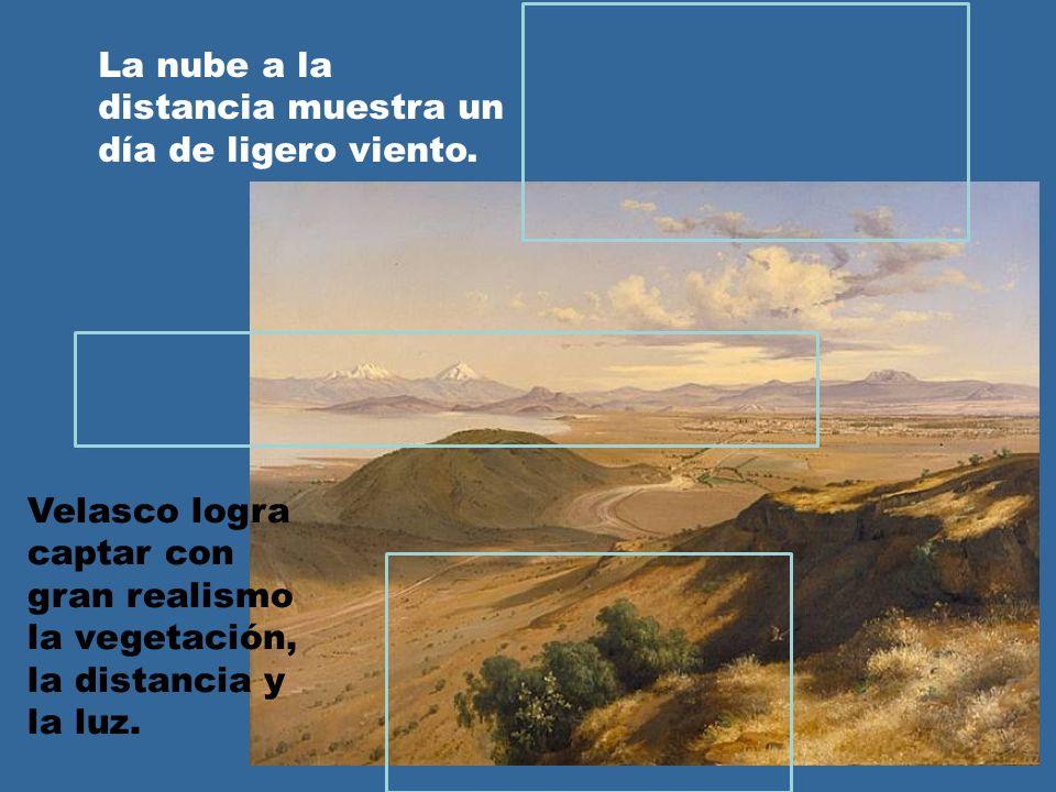 Velasco logra captar con gran realismo la vegetación, la distancia y la luz. La nube a la distancia muestra un día de ligero viento.