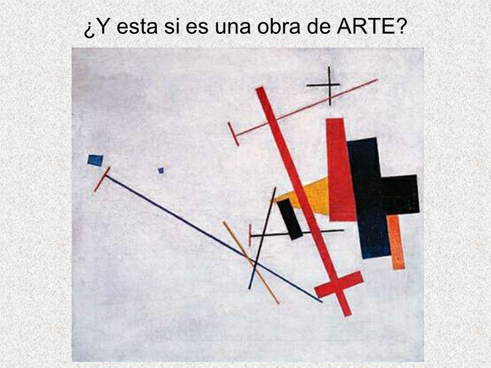 ¿Y esta si es una obra de ARTE?