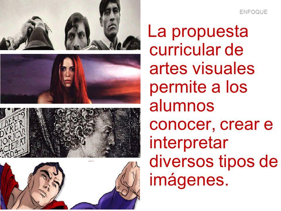 La propuesta curricular de artes visuales permite a los alumnos conocer, crear e interpretar diversos tipos de imágenes. ENFOQUE