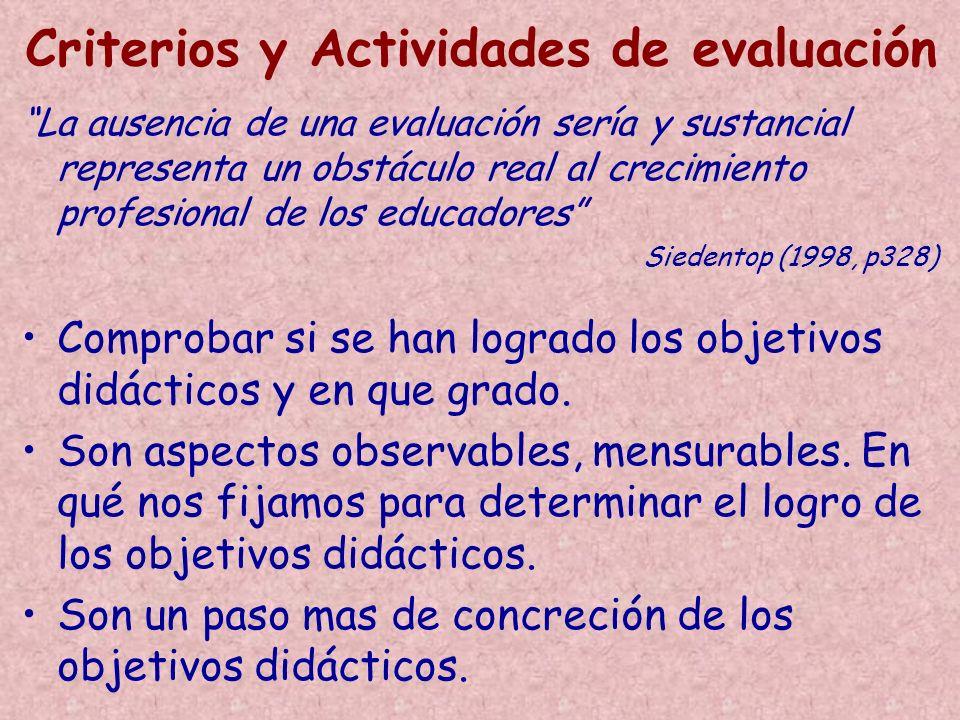 Comprobar si se han logrado los objetivos didácticos y en que grado. Son aspectos observables, mensurables. En qué nos fijamos para determinar el logr