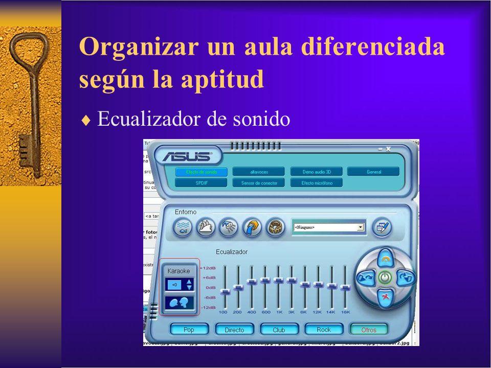 Organizar un aula diferenciada según la aptitud Ecualizador de sonido