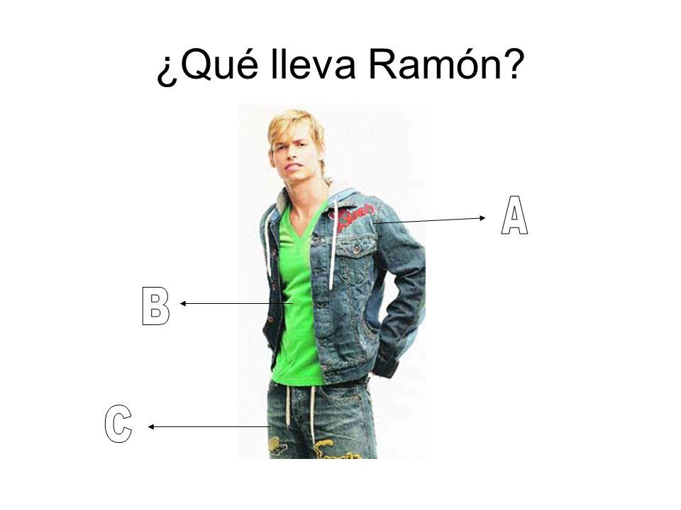 ¿Qué lleva Ramón?