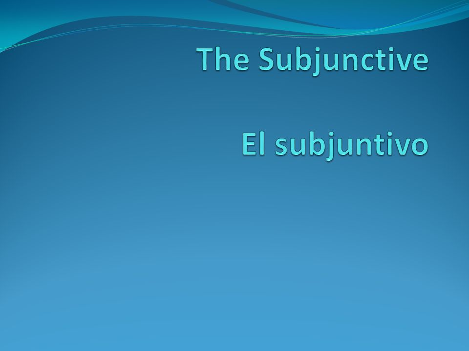 Main clause and subordinate clause dependent or subordinate clause que The subjunctive usually appears in the dependent or subordinate clause, and is introduced by the conjunction que after the main clause.