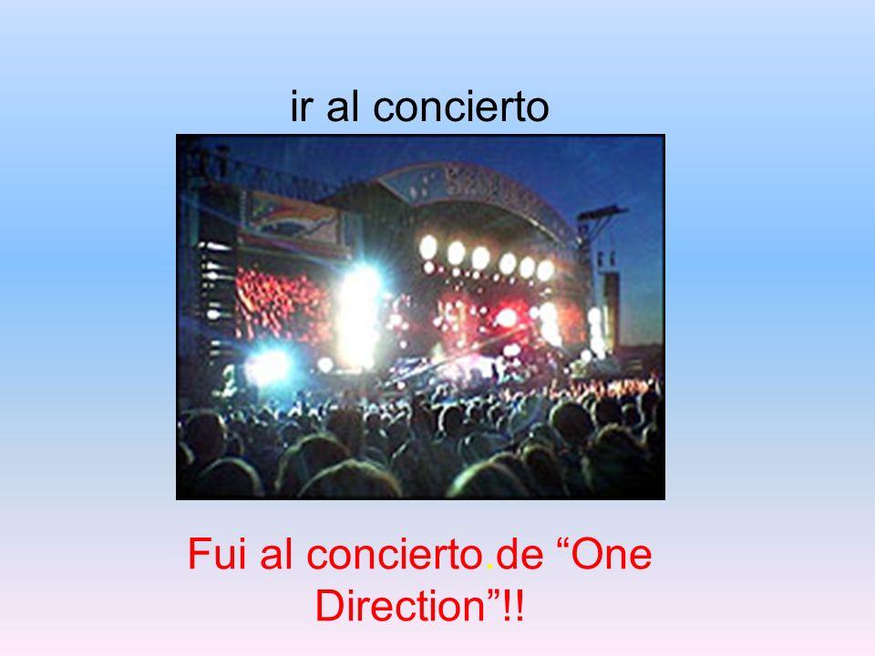 ir al concierto Fui al concierto.de One Direction!!