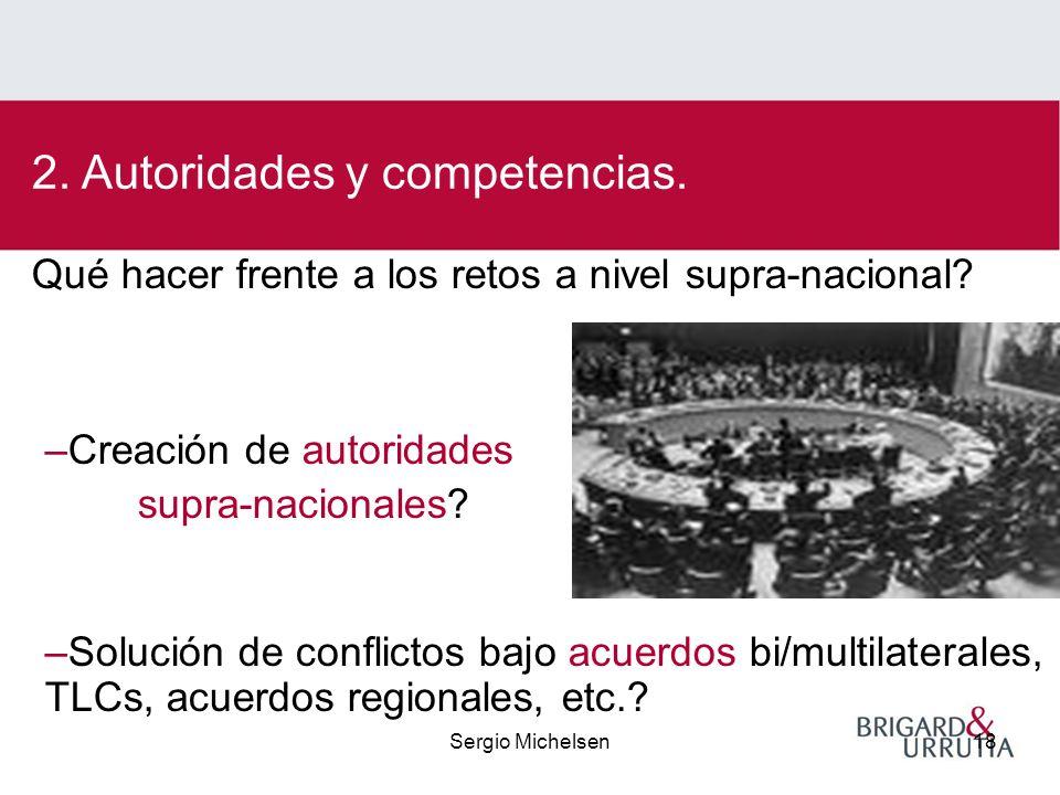 Sergio Michelsen18 Qué hacer frente a los retos a nivel supra-nacional.