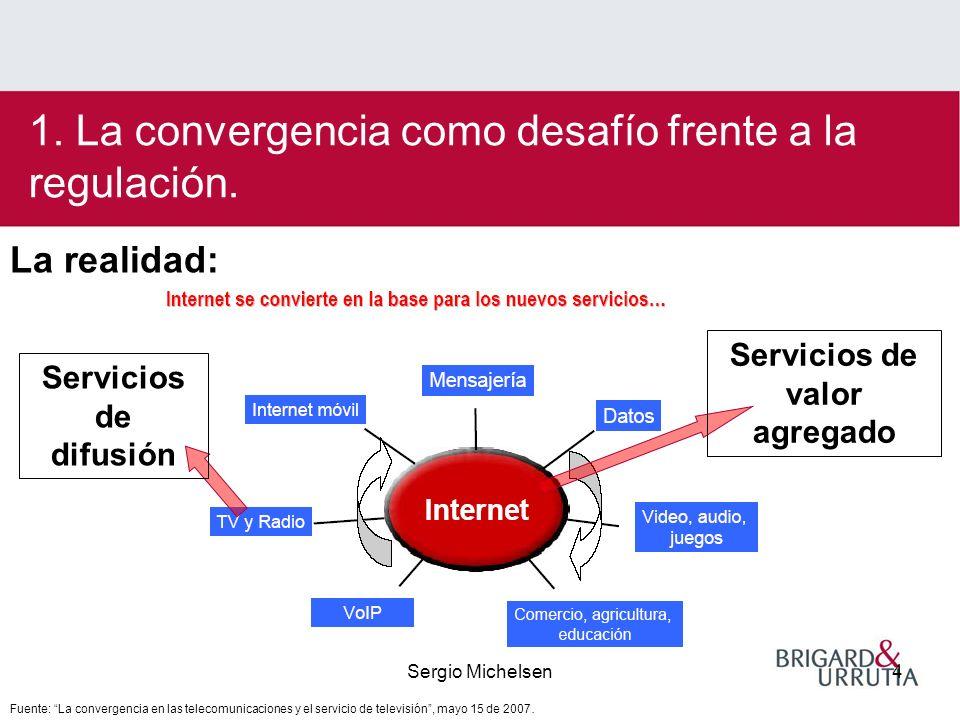 Sergio Michelsen4 1. La convergencia como desafío frente a la regulación.