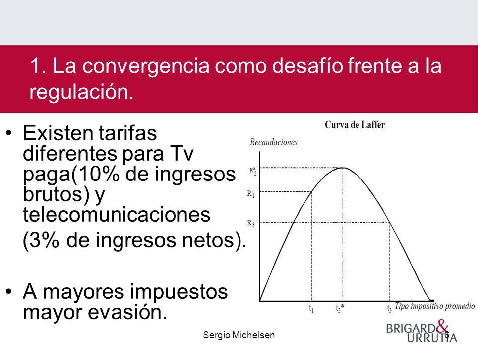 Sergio Michelsen6 1. La convergencia como desafío frente a la regulación.