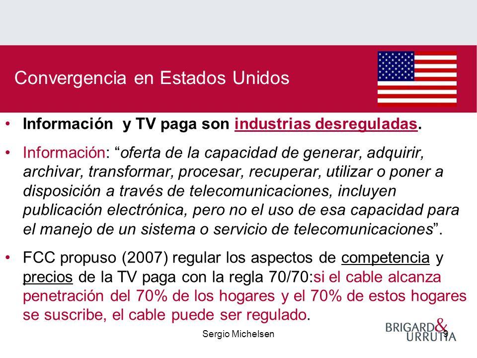 Sergio Michelsen9 Información y TV paga son industrias desreguladas.