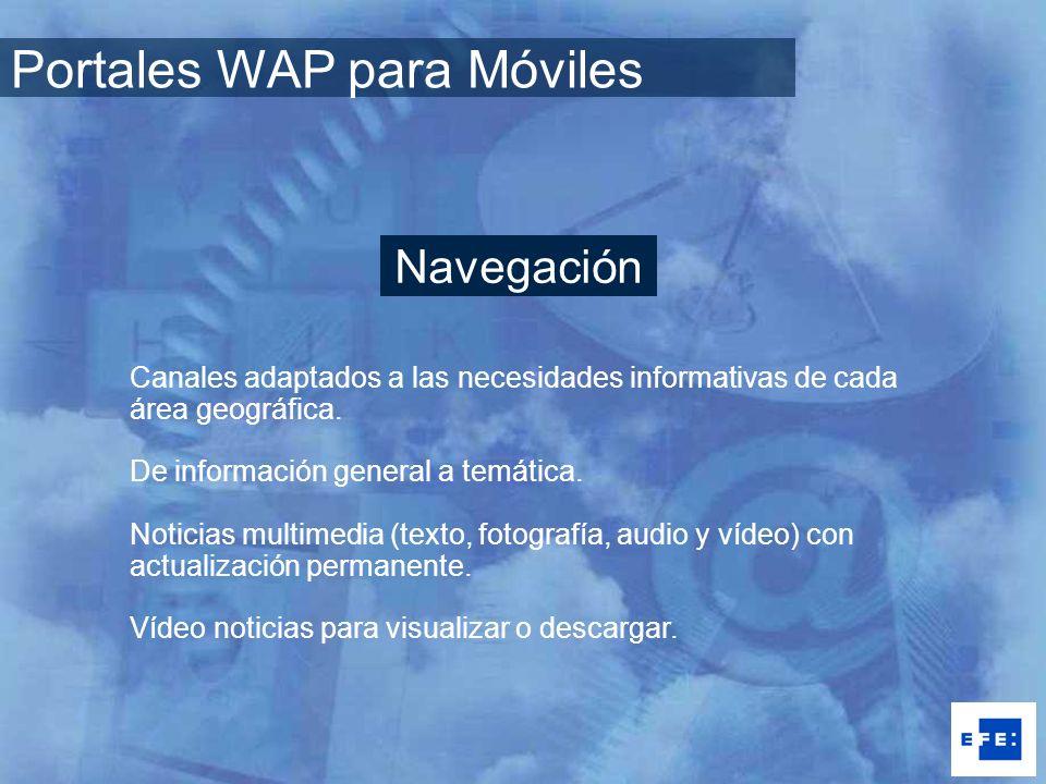 Canales adaptados a las necesidades informativas de cada área geográfica. De información general a temática. Noticias multimedia (texto, fotografía, a