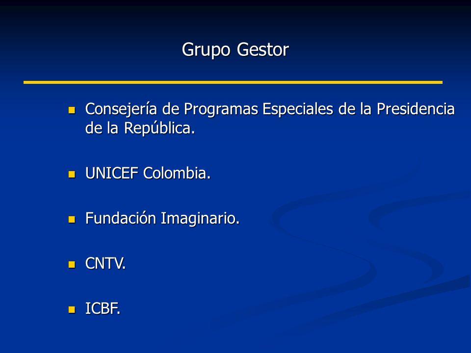 Grupo Gestor Consejería de Programas Especiales de la Presidencia de la República.