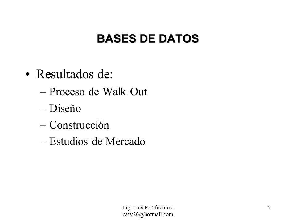 Ing.Luis F Cifuentes. catv20@hotmail.com 18 RECOMENDACIONES UNICA...