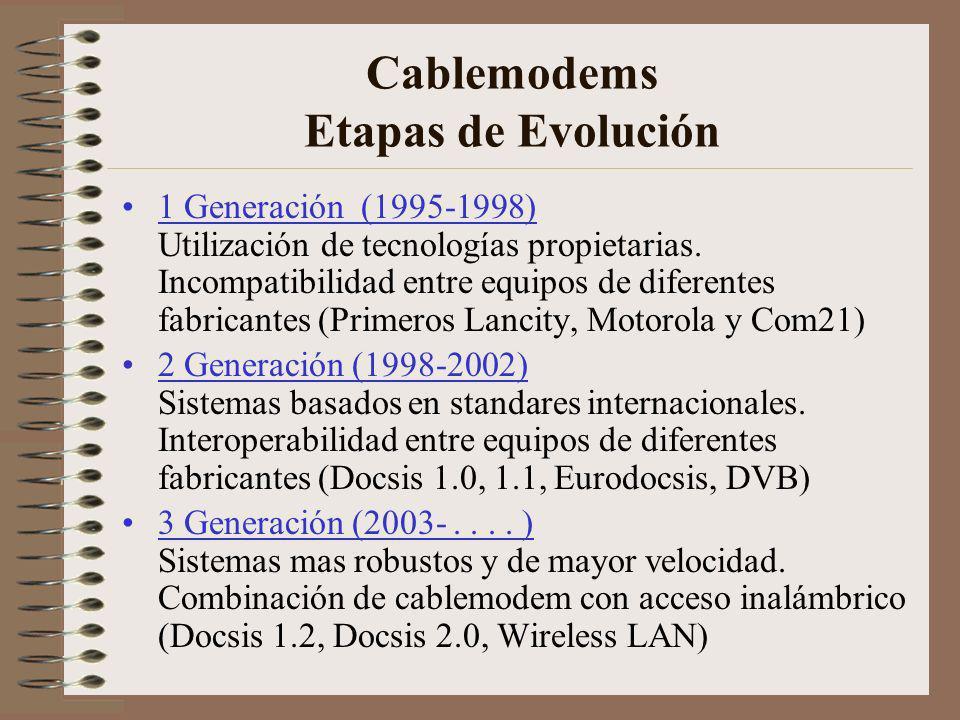 Norma Docsis DOCSIS = Data Over Cable Service Interface Specification Es un Standard definido por Cablelabs y varios operadores de sistemas multiples (MSOs).
