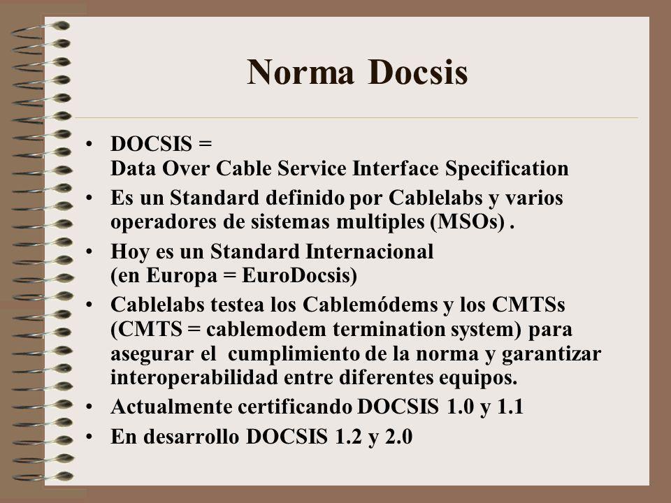 Norma Docsis Diferentes Capas – Modelo OSI