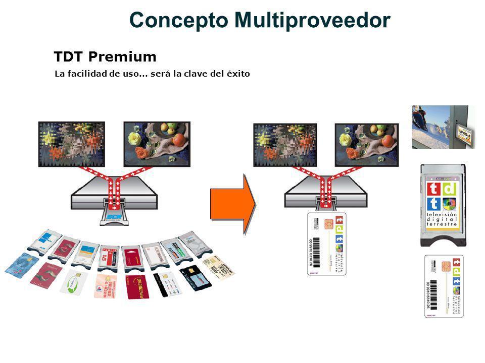 TDT Premium La facilidad de uso... será la clave del éxito Concepto Multiproveedor