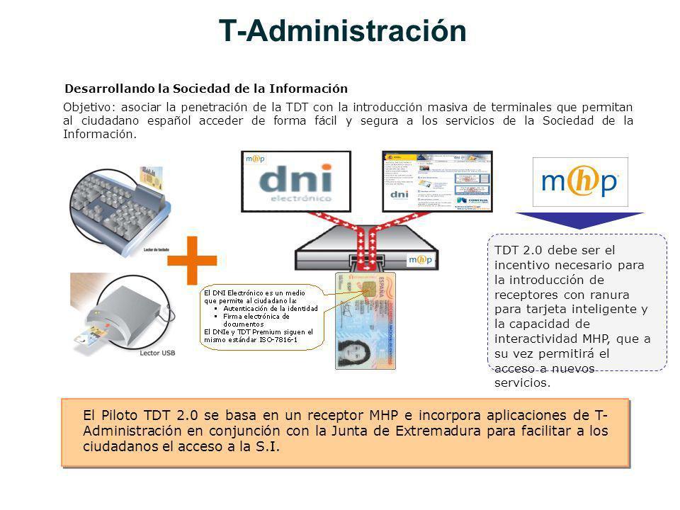 Objetivo: asociar la penetración de la TDT con la introducción masiva de terminales que permitan al ciudadano español acceder de forma fácil y segura