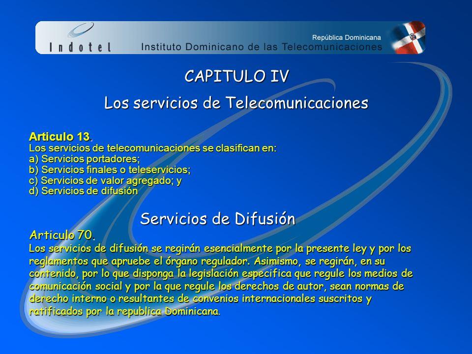 El Art. 76.2 de la ley crea el órgano regulador el cual se denominará INSTITUTO DOMINICANO DE LAS TELECOMUNICACIONES (INDOTEL) OBJETIVOS: 1.- PROMOVER