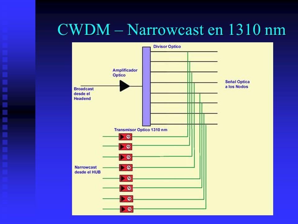 CWDM – Narrowcast en 1310 nm