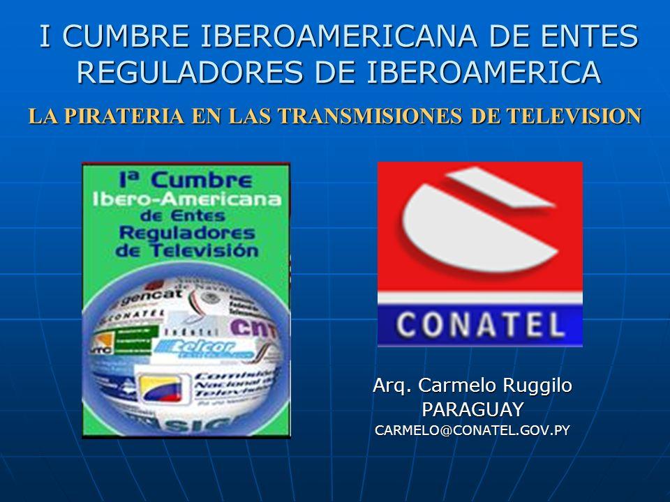 I CUMBRE IBEROAMERICANA DE ENTES REGULADORES DE IBEROAMERICA Arq.