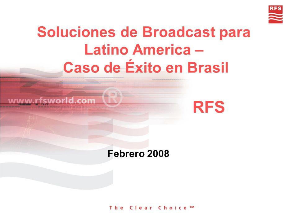 Sitio de TV SBT (Sao Paulo) Componentes (switchframe, cables, conectores, líneas rígidas, adaptadores) Antena para UHF high power para transmisión de TV digital Gerencia del Proyecto Ajuste de Filtros y optimización en campo Documentación completa y pruebas