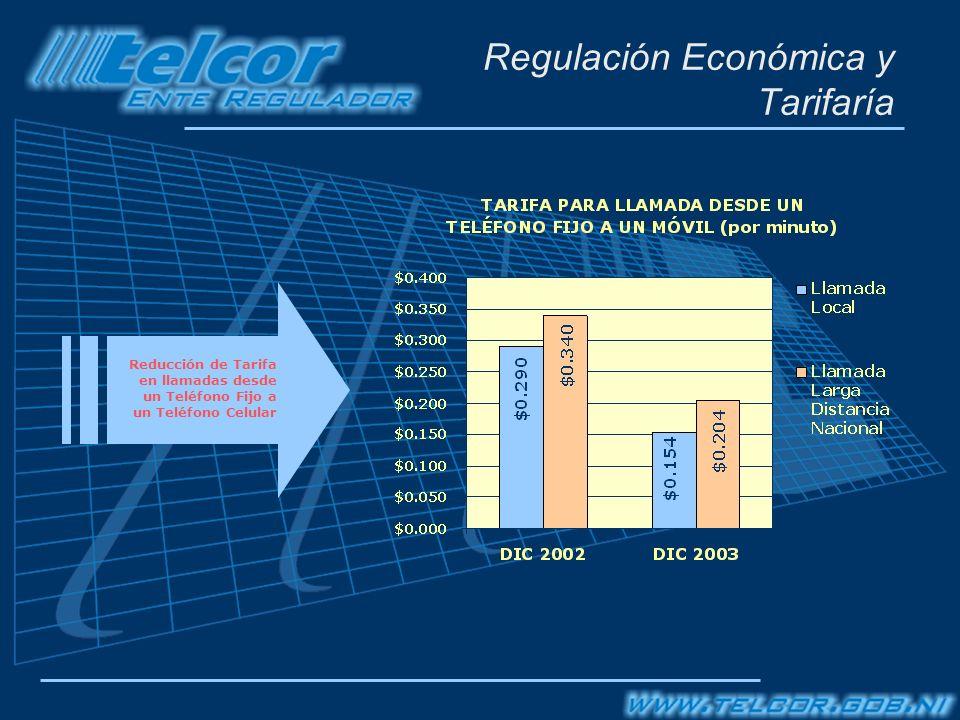 Regulación Económica y Tarifaría Reducción de Tarifa en llamadas desde un Teléfono Fijo a un Teléfono Celular