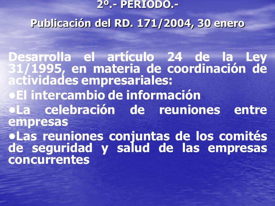 La impartición de instrucciones El establecimiento conjunto de medidas específicas La presencia en el centro de trabajo de los RECURSOS PREVENTIVOS de las empresas concurrentes La designación de una o más personas encargadas de la coordinación de las actividades preventivas.