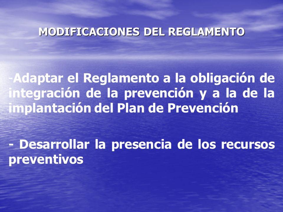 DESARROLLO DE LOS RECURSOS PREVENTIVOS Cuando: Las actividades que reglamentariamente se consideran peligrosas.