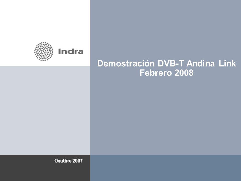 Indra, derechos reservados Índice 01 Características técnicas de la demostración 02 Equipamiento utilizado