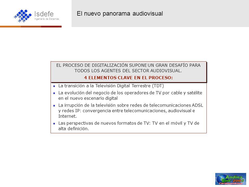 Isdefe Ingeniería de Sistemas La transición a la Televisión Digital Terrestre (TDT) La evolución del negocio de los operadores de TV por cable y satél