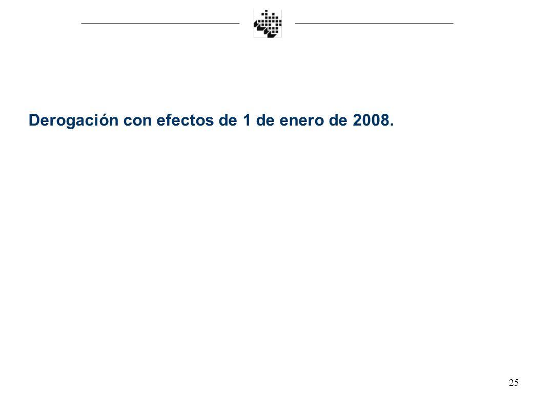 25 Derogación con efectos de 1 de enero de 2008.