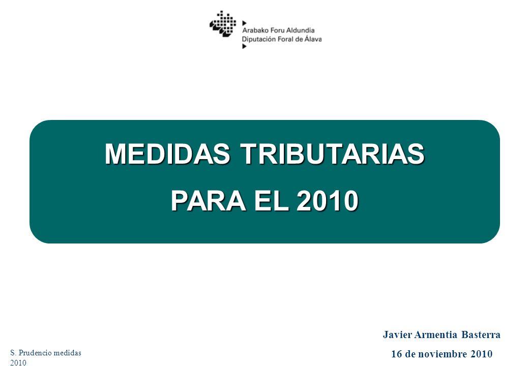 MEDIDAS TRIBUTARIAS PARA EL 2010 S.