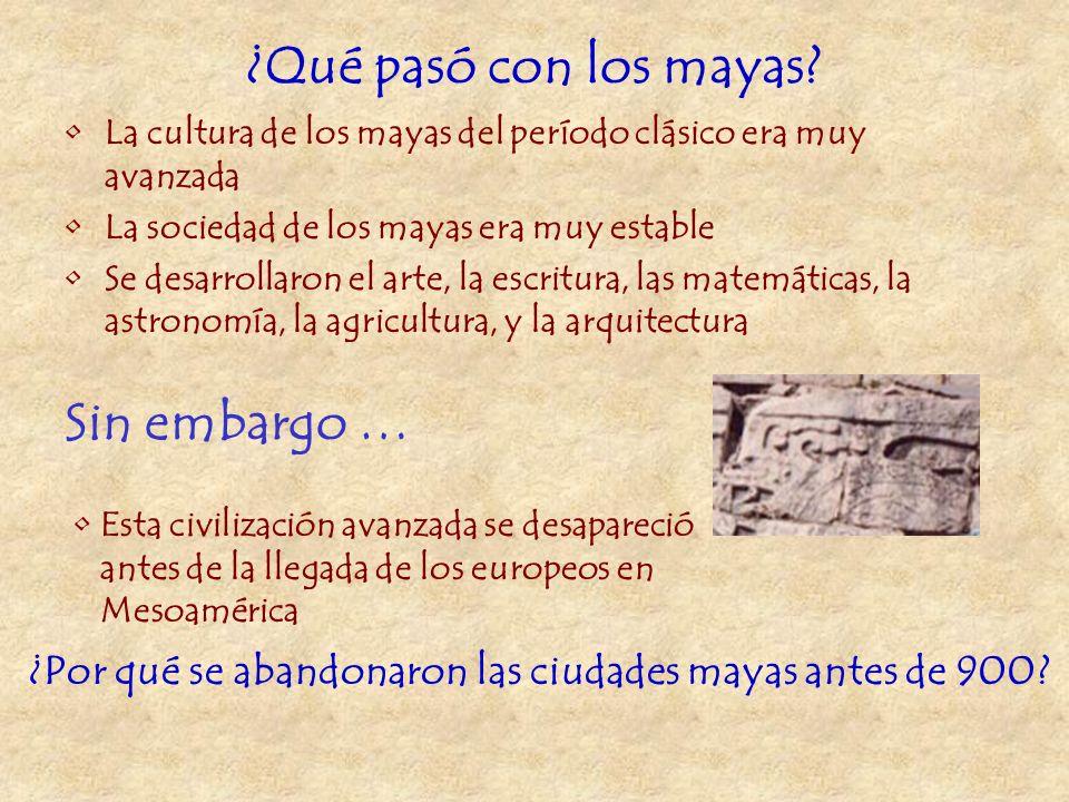 EL MISTERIO DE LOS MAYAS ¿Qué pasó con los mayas?