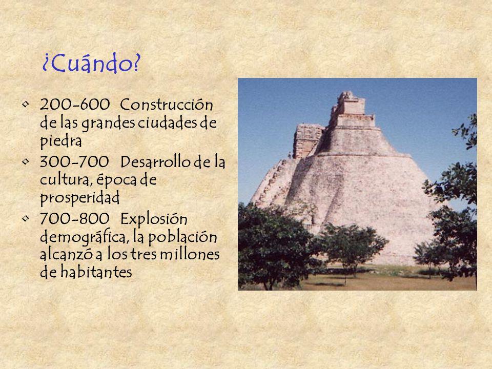 La cultura de los mayas del período clásico era muy avanzada La sociedad de los mayas era muy estable Se desarrollaron el arte, la escritura, las mate