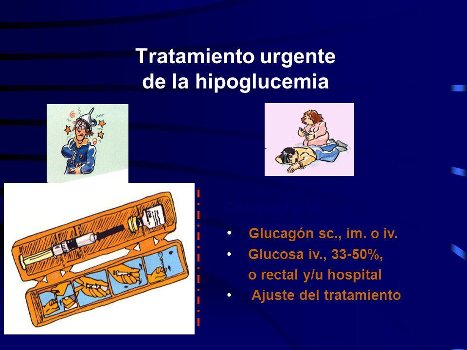 Tratamiento de la hipoglucemia Urgente Prevención Educación diabetológica