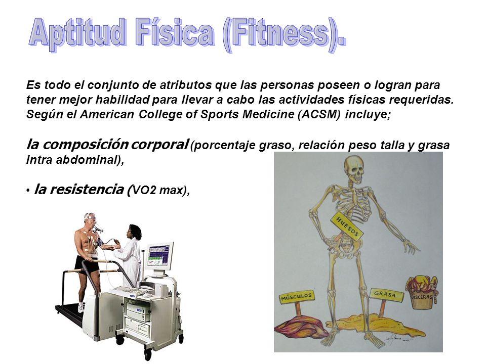 Es todo el conjunto de atributos que las personas poseen o logran para tener mejor habilidad para llevar a cabo las actividades físicas requeridas. Se