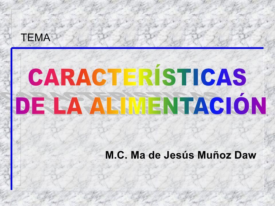M.C. Ma de Jesús Muñoz Daw TEMA
