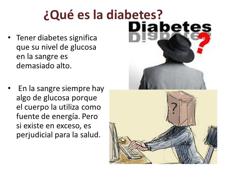 ¿Qué es la diabetes.