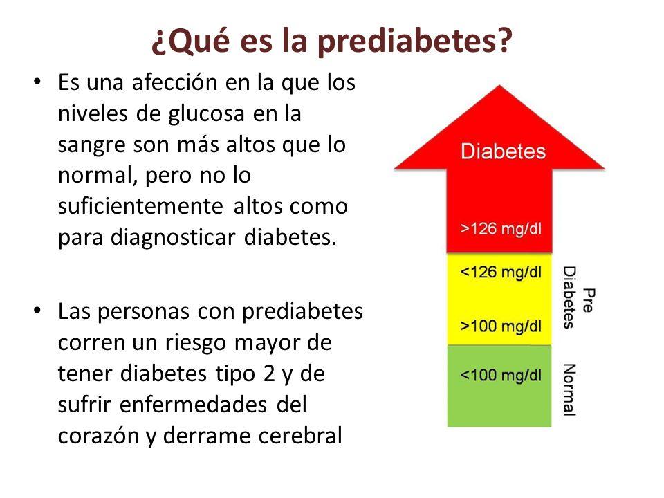 Si la persona tiene prediabetes puede disminuir el riesgo de desarrollar diabetes; bajando un poco de peso y realizando actividad física moderada para retrasar o prevenir la diabetes tipo 2 e incluso volver a tener niveles normales de glucosa en la sangre.