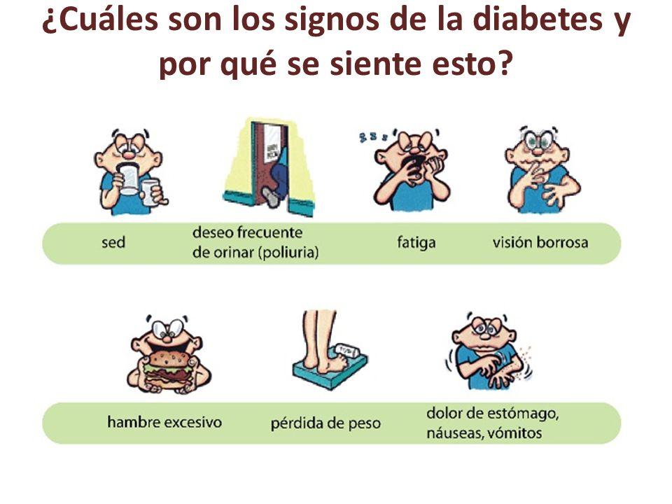 ¿Cuáles son los signos de la diabetes y por qué se siente esto?