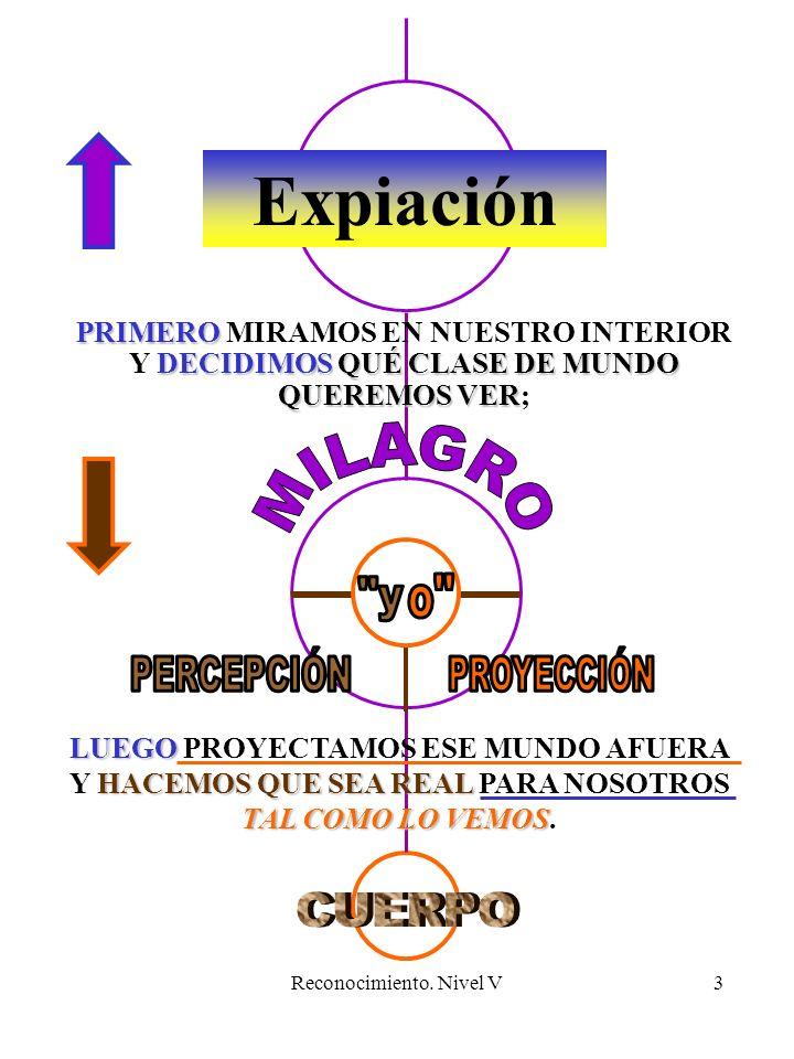 Reconocimiento.Nivel V4 Expiación LA PROYECCIÓN DA LUGAR A LA PERCEPCIÓN (Texto, pág.